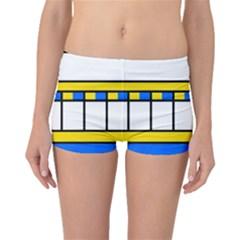 Stripes and squares Boyleg Bikini Bottoms