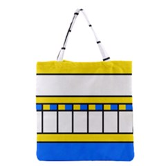 Stripes and squares Grocery Tote Bag