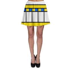 Stripes And Squares Skater Skirt