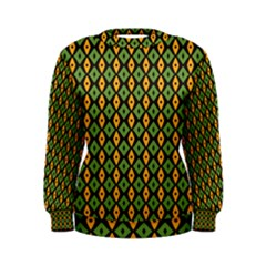 Green yellow rhombus pattern Sweatshirt