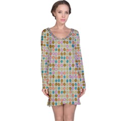 Retro dots pattern nightdress