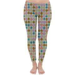 Retro dots pattern Winter Leggings