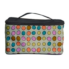 Retro dots pattern Cosmetic Storage Case