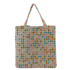Retro Dots Pattern Grocery Tote Bag