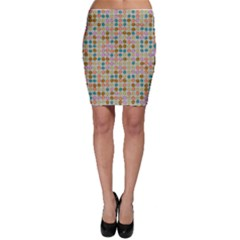 Retro Dots Pattern Bodycon Skirt