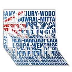 Australia Place Names Flag You Did It 3D Greeting Card (7x5)
