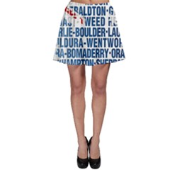 Australia Place Names Flag Skater Skirts