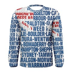 Australia Place Names Flag Men s Long Sleeve T-shirts