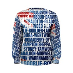 Australia Place Names Flag Women s Sweatshirts