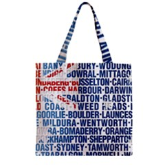 Australia Place Names Flag Zipper Grocery Tote Bags