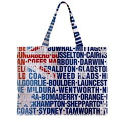 Australia Place Names Flag Zipper Tiny Tote Bags