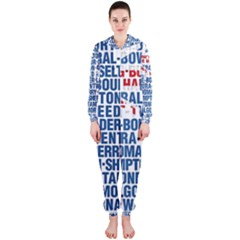 Australia Place Names Flag Hooded Jumpsuit (Ladies)