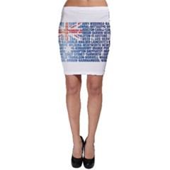 Australia Place Names Flag Bodycon Skirts