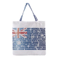 Australia Place Names Flag Grocery Tote Bags