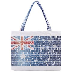 Australia Place Names Flag Tiny Tote Bags