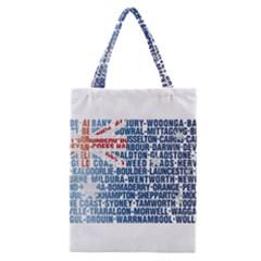 Australia Place Names Flag Classic Tote Bags