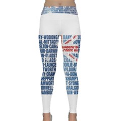 Australia Place Names Flag Yoga Leggings