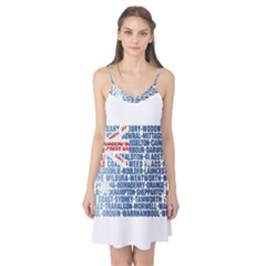 Australia Place Names Flag Camis Nightgown