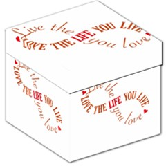 Live The Life You Love Storage Stool 12