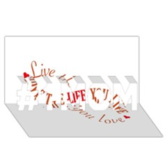 Live The Life You Love #1 MOM 3D Greeting Cards (8x4)
