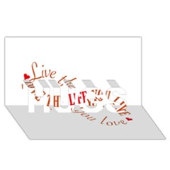 Live The Life You Love HUGS 3D Greeting Card (8x4)