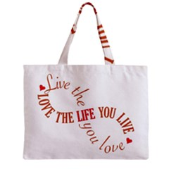 Live The Life You Love Zipper Tiny Tote Bags