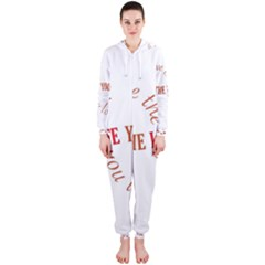 Live The Life You Love Hooded Jumpsuit (Ladies)