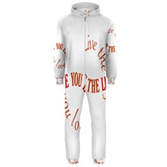 Live The Life You Love Hooded Jumpsuit (men)