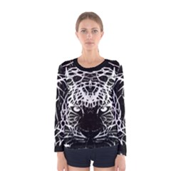 Officially Sexy Panther Collection Black & White Women s Long Sleeve T-shirt