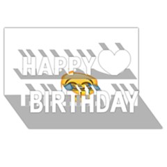 Cryingwithlaughter Happy Birthday 3d Greeting Card (8x4)