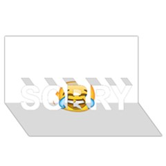 Cryingwithlaughter SORRY 3D Greeting Card (8x4)