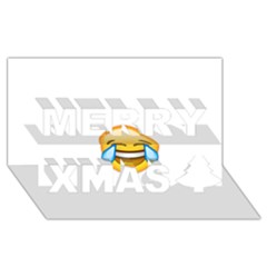 Cryingwithlaughter Merry Xmas 3d Greeting Card (8x4)