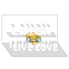 Cryingwithlaughter Laugh Live Love 3D Greeting Card (8x4)