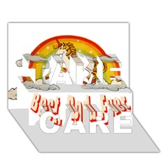 Best  Dad  Ever Take Care 3d Greeting Card (7x5)