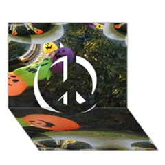 Floating Pumpkins Peace Sign 3d Greeting Card (7x5)