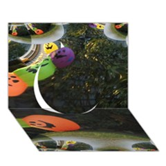 Floating Pumpkins Circle 3D Greeting Card (7x5)