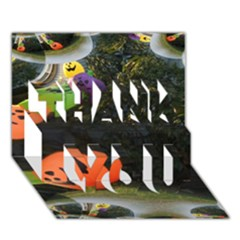 Floating Pumpkins THANK YOU 3D Greeting Card (7x5)