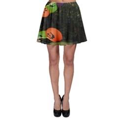 Floating Pumpkins Skater Skirts