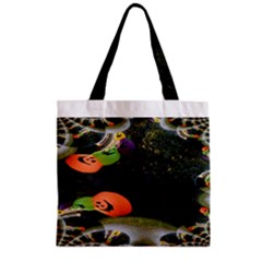 Floating Pumpkins Zipper Grocery Tote Bags