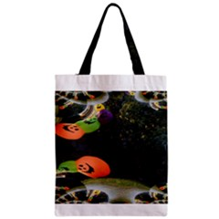 Floating Pumpkins Zipper Classic Tote Bags