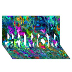 Inked Spot #1 Mom 3d Greeting Cards (8x4)