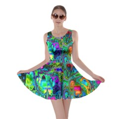 Inked Spot Fractal Art Skater Dress