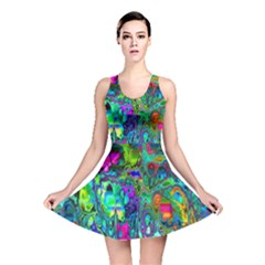 Inked Spot Fractal Art Reversible Skater Dress