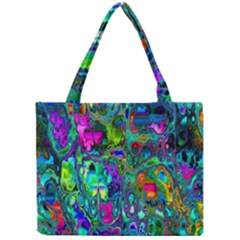 Inked Spot Fractal Art Mini Tote Bag
