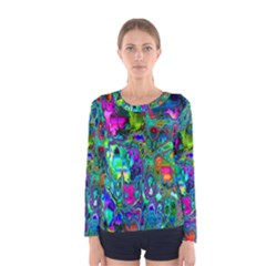 Inked Spot Fractal Art Women s Long Sleeve T-shirt
