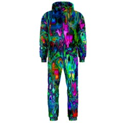Inked Spot Fractal Art Hooded Jumpsuit (Men)