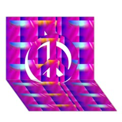 Pink Cell Mate Peace Sign 3D Greeting Card (7x5)