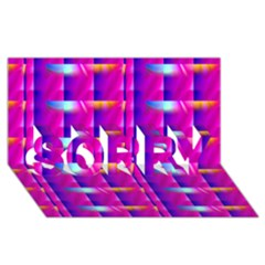 Pink Cell Mate SORRY 3D Greeting Card (8x4)