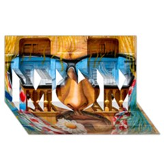 Graffiti Sunglass Art Mom 3d Greeting Card (8x4)