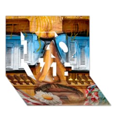 Graffiti Sunglass Art Love 3d Greeting Card (7x5)